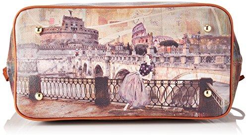 YNOT i-319, Borsa a Spalla Donna, 46 x 44 x 17.5 cm (W x H x L) Multicolore (Roma Retro')