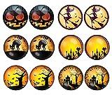 6 Paar LilMents Halloween Festliche Unisex Edelstahl-Ohrstecker/Ohrringe Set