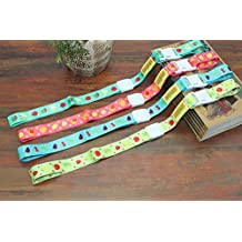 4pcs bebé un vasito soporte ajustable correa,–Chupete (holders Toys correa para silla de paseo Pack de 4(Multicolor)