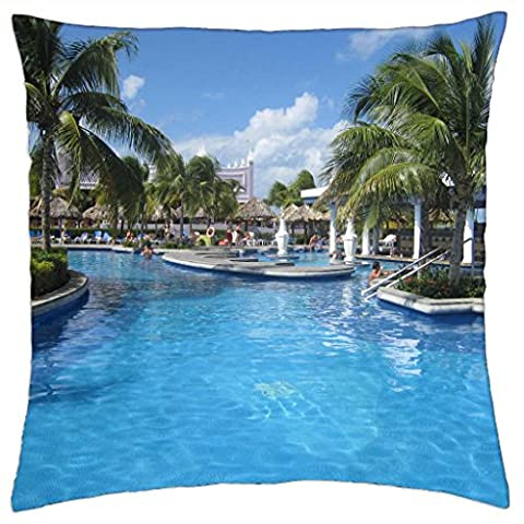Poll at Montego Bay, Jamaica - Throw Pillow Cover Case (18