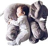 ZEARO Baby-weiches Plüsch-Elefant Schlafkissen Kids Lendenkissen Spielzeug 2 Sizes
