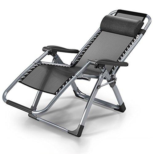 Yxyh pieghevole letto singolo siesta sedia comfort cotone pad+traspirante  maglia piega sedia poltrone divano adatto a gestante/ufficio/all'aperto aspettare zona (nero) (colore : a)