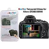 Nikon D3300 D3200 LCD Protector de pantalla de cristal templado 9H Dureza óptico de besyee, 0,33 mm ultrafina DSLR hombro de la cámara de vidrio templado con protector de pantalla para Nikon D3300 D3200