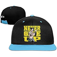 hittings Unisex Kids John Cena Logo Never Give Up Hit de color hip hop Béisbol Caps Hats Roya lblue