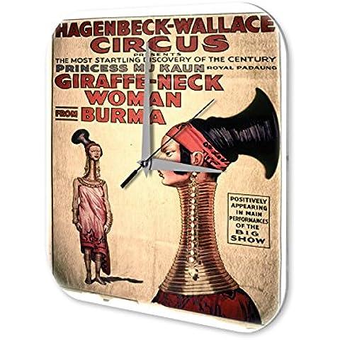 Orologio da parete Circo donna collo lungo Plexiglas Acrillico Stampato