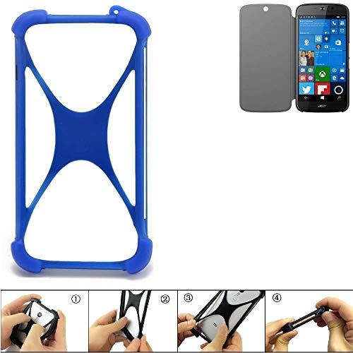 K-S-Trade Paraurti per Cellulare Acer Liquid Jade Primo Paraspruzzo in Silicone Custodia Cover Bumper per Astuccio TPU Softcase Protector Blu (1x)