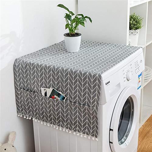 Multi Funktionsstaubschutz Kühlschrank Staubschutz Roller Waschmaschine Abdeckung Nordischen Stil Geometrische Muster Staubschutz Für Roller Waschmaschine Einzelne Tür Kühlschrank Tischdecke