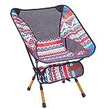 Indischer Campingstuhl Super Light Garden Stuhl Klappbarer Angel Stuhl Heavy Duty 150 Kg Kompakt, Tragbarer Outdoor-Sitz Mit Tote Tasche,Red