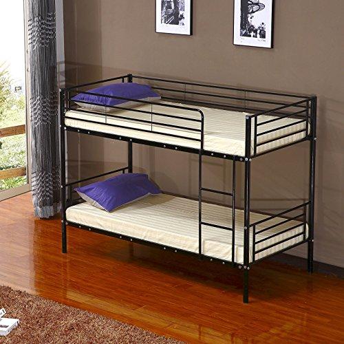 Schindora Single Metal Frame Bunk Bed Children Kids Twin
