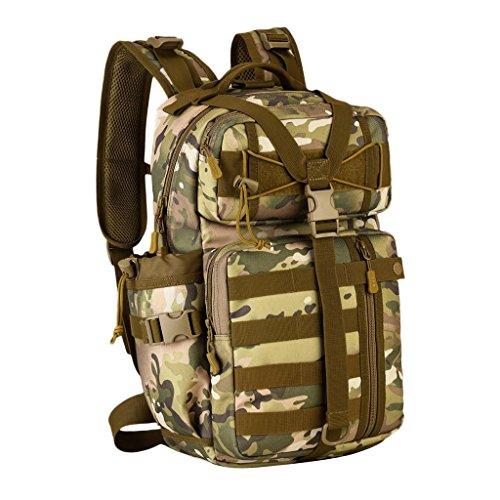 Gazechimp 30L Molle Rucksack Taktischer Erwachsene Rucksack Unisex Trekkingrucksack Outdoor Reiserucksack CP Camo