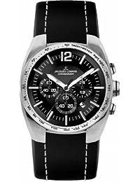 Jacques Lemans Herren-Armbanduhr XL Sport Chronograph Quarz Leder 1-1688A