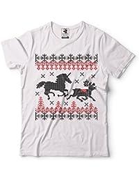 Silk Road Tees Estilo de Navidad Suéter Feo de la Camiseta de los Hombres del Unicornio