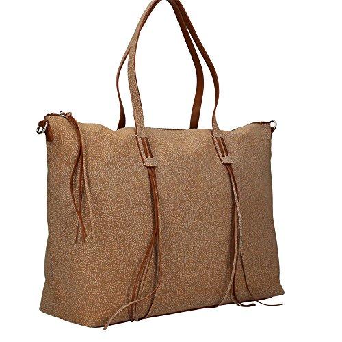 Borbonese 924794648 Shopping Bag Donna Cuoio