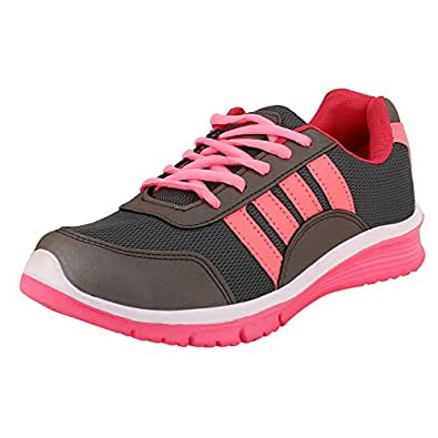 Chevit Women's Xpose 420 Baby Pink Gray Running Shoes (Joggers and Running Shoes)