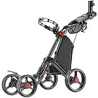 Caddytek Superlite Quad V2 4-Rad Trolley Push Golftrolley Golfcaddy Golfwagen schwarz