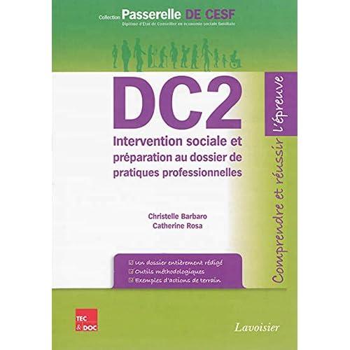 DC2 Intervention sociale et préparation au dossier de pratiques professionnelles