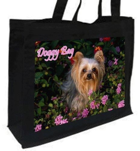 Yorkshire Terrier Einkaufstasche Baumwolle, schwarz Doggy Bag