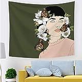 ZLZYY Beauty Digitaldruck Tapisserie heißer dekorative Tuch Hintergrund Tuch malerei bettdecke 211755 100 * 70 cm dünn