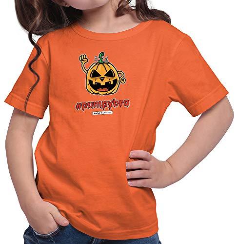 Plus Kostüm Sensenmann - HARIZ  Mädchen T-Shirt Pixbros Pumpybro Halloween Kostüm Horror Umhang Plus Geschenkkarten Orange 128/7-8 Jahre