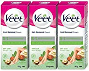 Veet Silk & Fresh Hair Removal Cream, Dry Skin -50 g (Pack o