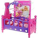 Puppenbett 661-02 con ropa de cama y juego para móviles - Cuna para la muneca - cuna para mun...