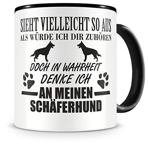 Samunshi® Ich denke an meinen Schäferhund Hunde Tasse Kaffeetasse Teetasse Kaffeepott Kaffeebecher Becher
