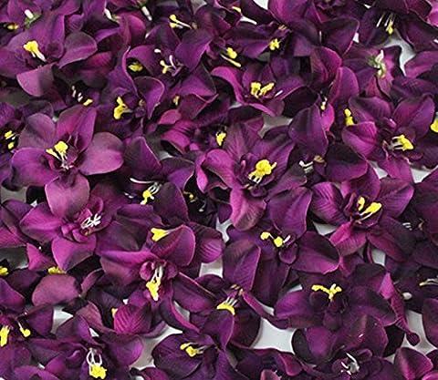 Zantec Glamorous Künstliche Cymbidium Orchidee Blume für Jäten Party Home U Best Preis Geschenk Reis Weiß 100pcs