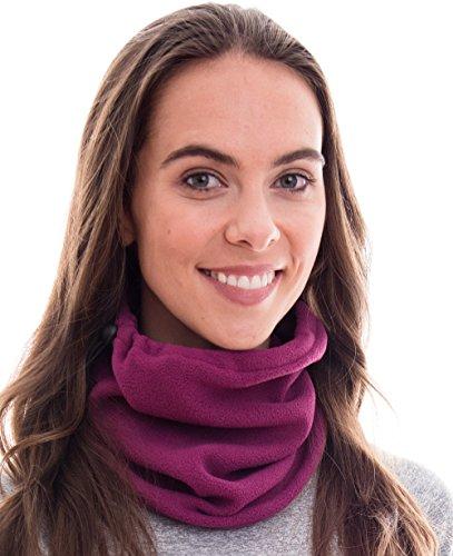 Hilltop sciarpa multifunzionale polar/cappuccio/maschera moto/maschera/schiuma/protezione freddo/maschera facciale/scaldacollo/scaldacollo/100% pile, design/colore:magenta