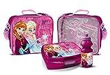 Elsa und Anna Trinkflasche und Brotbox Set Lunchbox Frozen Kindergartentasche mit Brotzeitdose und Flasche Pausenset 48806