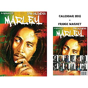 bob marley kalender 2018 bob marley k hlschrankmagnet. Black Bedroom Furniture Sets. Home Design Ideas