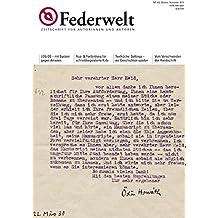 Federwelt 102, 05-2013: Zeitschrift für Autorinnen und Autoren