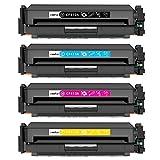 CSSTAR Kompatibel Toner Ersatz für HP 410X CF410X CF411X CF412X CF413X für Color Laserjet Pro MFP M477fdw M477fdn M477fnw M377dw M452dn M452nw M452dw Drucker - Schwarz, Cyan, Gelb, Magenta