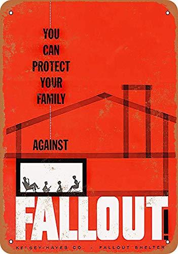 Snowae 1954 Protect Your Family Against Nuclear Fallout Metall Poster Wand rostfrei Aluminium wetterfest Dekor Home Wall Art Decor Retro Vintage Blechschild 30,5 x 20,3 cm