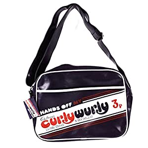 Cadbury's® Chocolate Curly Wurly CurlyWurly Retro Vintage Shoulder Messenger Bag Purple Travel Carry Case
