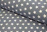 Swafing Jersey Verena 'Sterne' jeansblau 0,5m