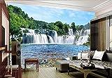 Yosot Große 3D-Tapete Murals Wasserfall Landschaft Hintergrundbilder Für Wohnzimmer Modernes Hotel Cafe Home Wandbilder Deko-140Cmx100Cm