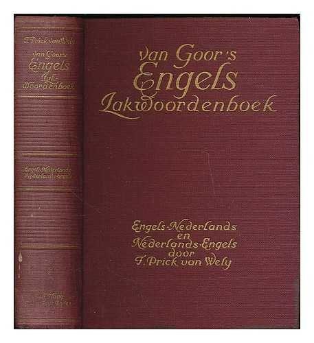Van Goor's Engels zakwoordenboek : Engels-Nederlands en Nederlands-Engels/bewert door F. Prick van Wely