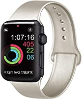 AK kompatibel Apple Watch Armband 42mm 38mm 44mm 40mm, Weiche Silikon Sport Ersatz Armband kompatibel iWatch Series 5,...