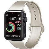 AK Compatible Apple Watch Bracelet 42mm 38mm 44mm 40mm, Bracelet de Sport en Silicone Remplacement Compatible la série 4, la série 3, la série 2 et la série 1 d'iWatch