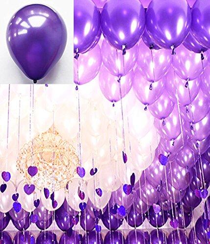 Luftballons Premiumqualität schöne Ballons für Weihnachten Geburtstag Abendgesellschaft Party Dekoration in Farben dunkel lila (Dunkel Lila Luftballons)