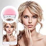 Ultra Aura Selfie Ring Light 36 LED Flash/Best Prop/Accessories/Portable for Mobile, iPhone,iPad,Samsung Galaxy, Android, Smart Phones, Laptop, Camera Photography,Video - Pink