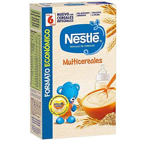 Nestlé Multicereales Papilla de cereales instantánea de fácil disolución - Papillas Para...