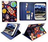Sweet Tech LeaningTech QT-10 10.1 Inch 3G Tablet Cartoon Astronauts Universal Wallet Case Cover Folio (10-11 inch)