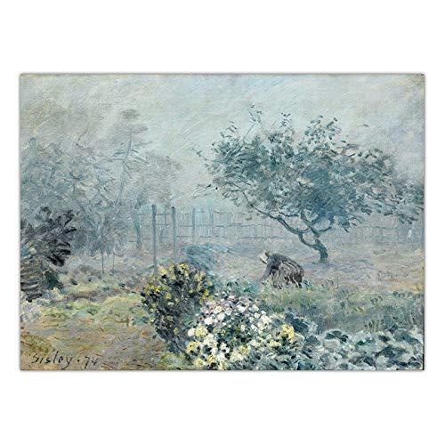 LKYH Dekoration Kunst Wandbilder für Wohnzimmer Poster Print Leinwand Paintingsn Französisch Alfred Sisley Landschaft -60cm*90cm(Rahmenlos) -