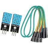 haljia 2piezas DHT11Digital de la temperatura Sensor de humedad módulo para Arduino