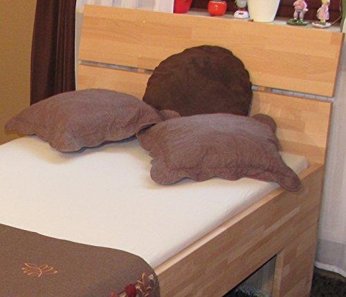 Komfortbett buche massiv 100×200 Holzbett Seniorenbett Echtholz buche – (3000)
