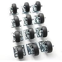 Speed - Ruote da trasporto, 12x 50mm, carico 40kg cad., lamiera di acciaio e polipropilene, zincato grigio chiaro - Speed acciaio