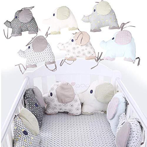 Bettumrandung Nest Kopfschutz Nestchen, Stoßschutz für Kinderbett, Bettnestchen Baby Kantenschutz Bettausstattung, Gestickte bedruckte Bettumrandung, 6 Stück eingestellt