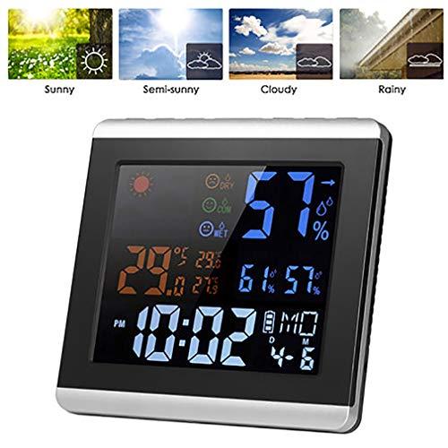 ZUZEN Temperatura Interior/higrómetro Reloj electrónico