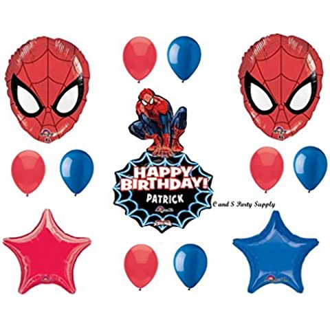 SPIDER-MAN PERSONALIZED Birthday Party Mylar BalloonS Decorations Supplies Movie by Anagram by